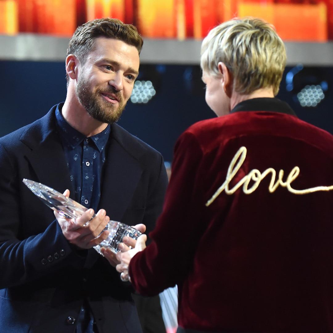 Justin Timberlake, Ellen DeGeneres, 2017 Peoples Choice Awards