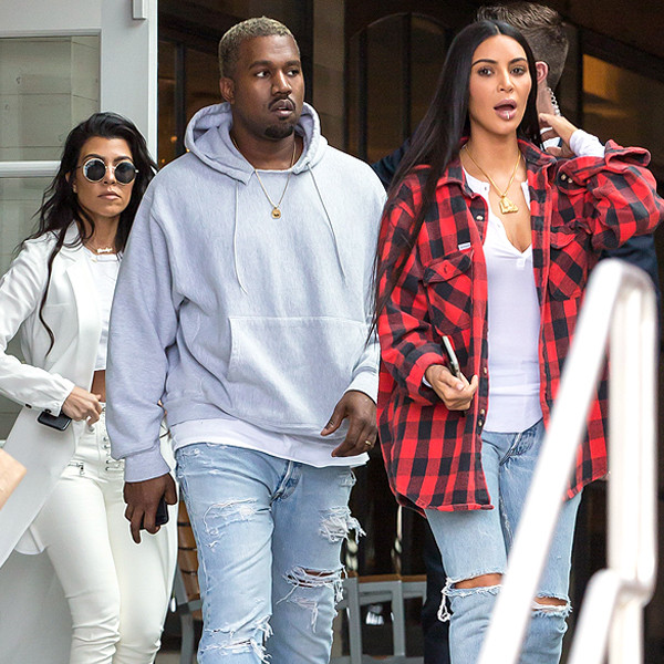 Kanye West, Kim Kardashian, Kourtney Kardashain