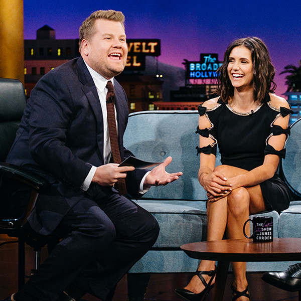 Nina Dobrev, James Corden, The Late Late Show