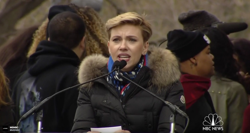 Scarlett Johansson, Women's March on Washington