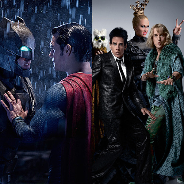 Zoolander 2, Batman V Superman
