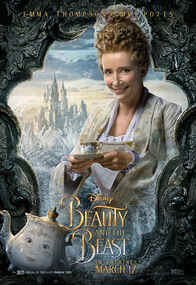 Beauty And The Beast Imdb: Emma Thompson From Beauty And The Beast Character Posters