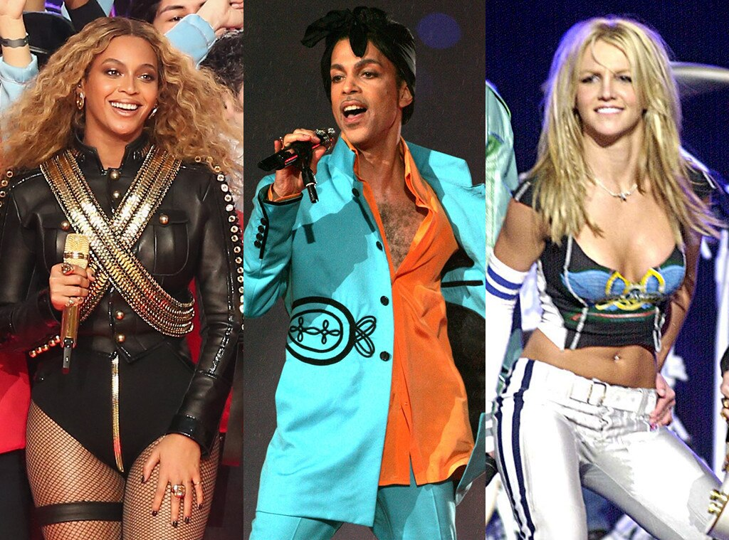 Beyonce, Prince, Britney Spears, Super Bowl