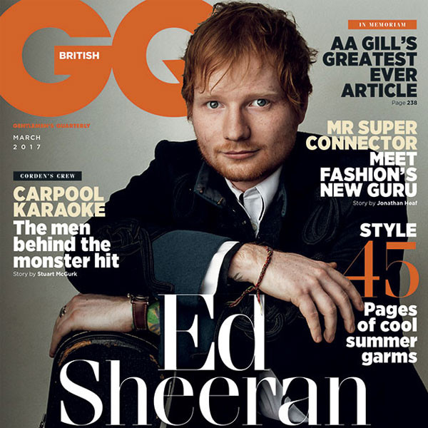 British GQ, Ed Sheeran, March Issue