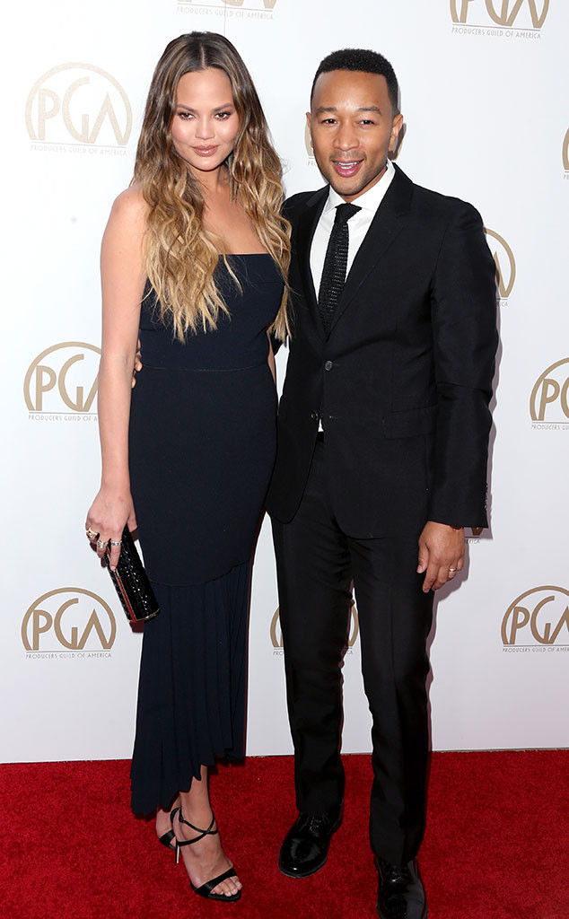 Chrissy Teigen, John Legend, 2017 Producers Guild Awards