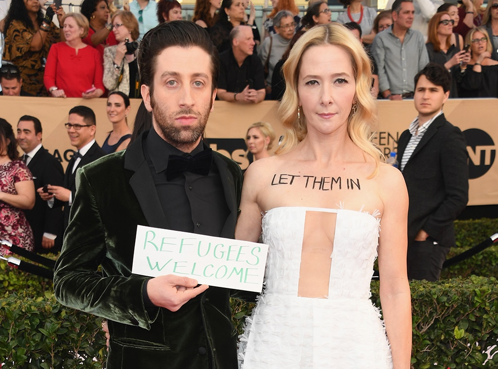 Simon Helberg, Jocelyn Towne, 2017 SAG Awards, Couples