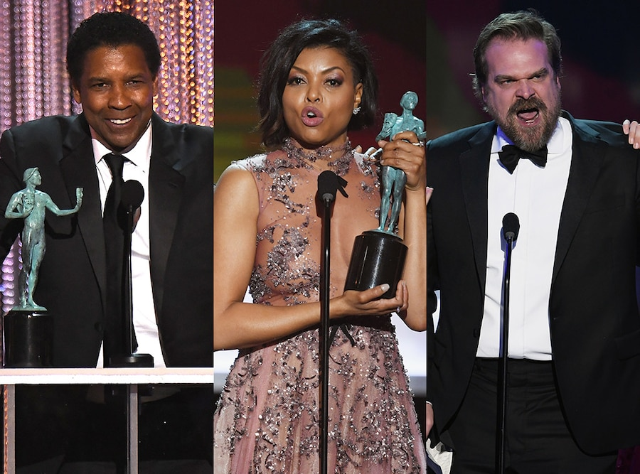Denzel Washington, Taraji P. Henson, David Harbour, SAG Awards, Speech
