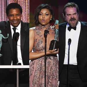 Denzel Washington, Taraji P. Henson, David Harbour, SAG Awards, Speech