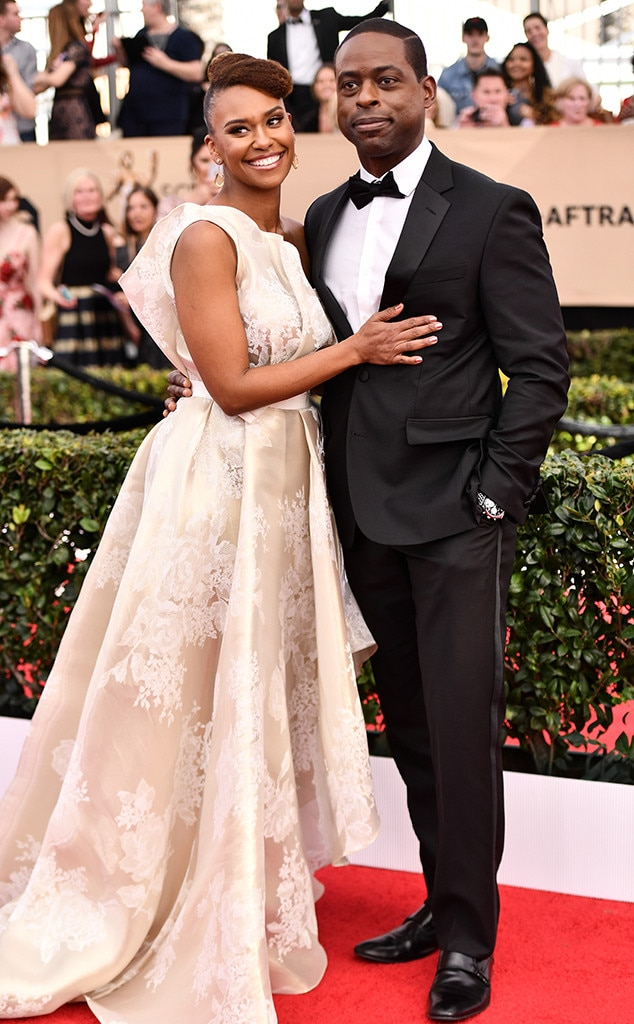 Ryan Michelle Bathe, Sterling K. Brown, 2017 SAG Awards, Couples