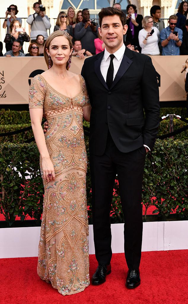 Emily Blunt, John Krasinski, 2017 SAG Awards, Couples