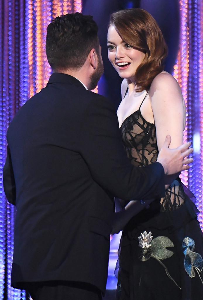 Emma Stone, Jonah Hill, 2017 SAG Awards