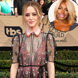 Claire Foy, 2017 SAG Awards, Arrivals, Nene Leakes
