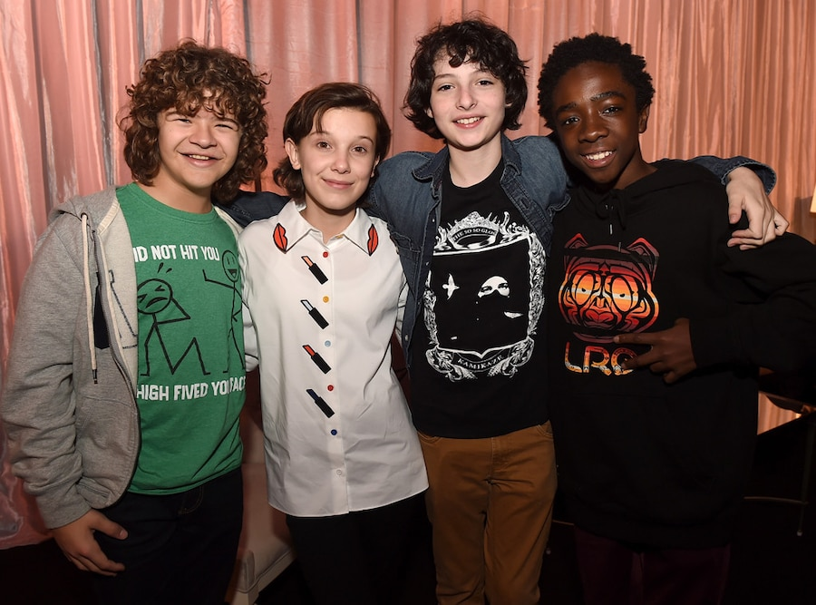 Gaten Matarazzo, Millie Bobby Brown, Finn Wolfhard, Caleb McLaughlin, Stranger Things Kids