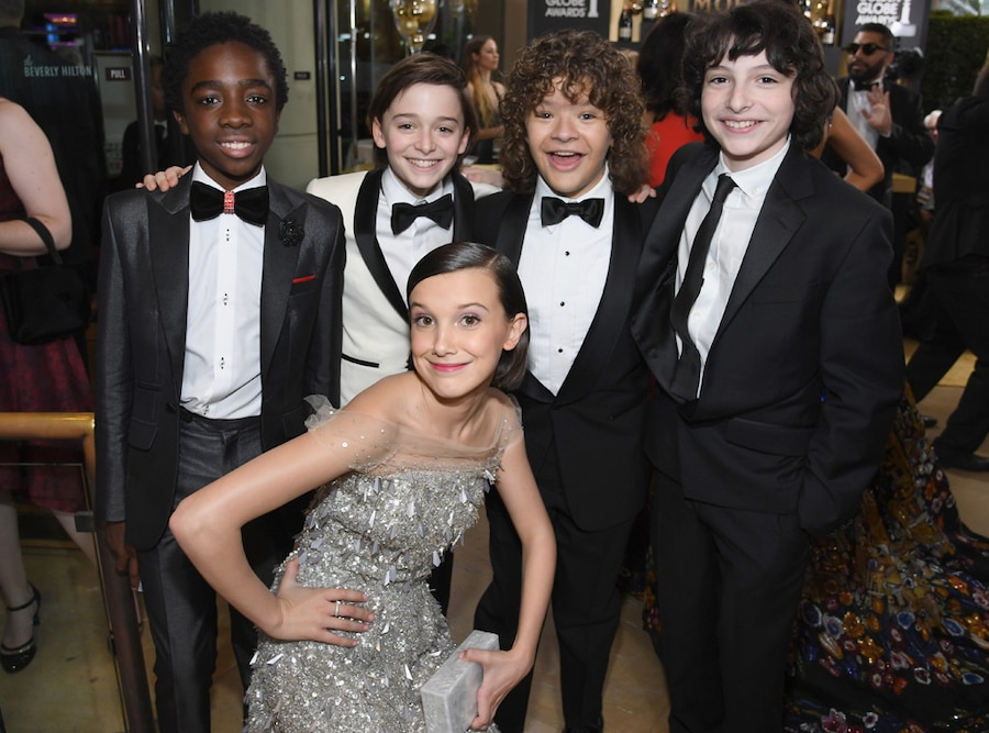 Caleb McLaughlin, Noah Schnapp, Gaten Matarazzo, Finn Wolfhard, Millie Bobby Brown, Stranger Things Kids