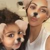 Kim Kardashian, North West, Snapchat