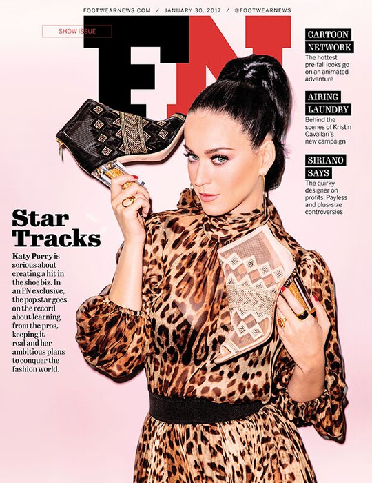 Katy Perry, Footwear News Cover