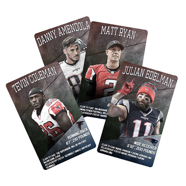 Super Bowl Trading Cards, Patriots, Falcons