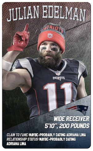 Super Bowl Trading Cards, Patriots, Julian Edelman