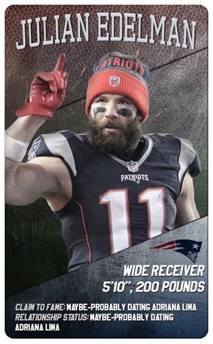 Super Bowl Trading Cards, Patriots, Julian Edelman