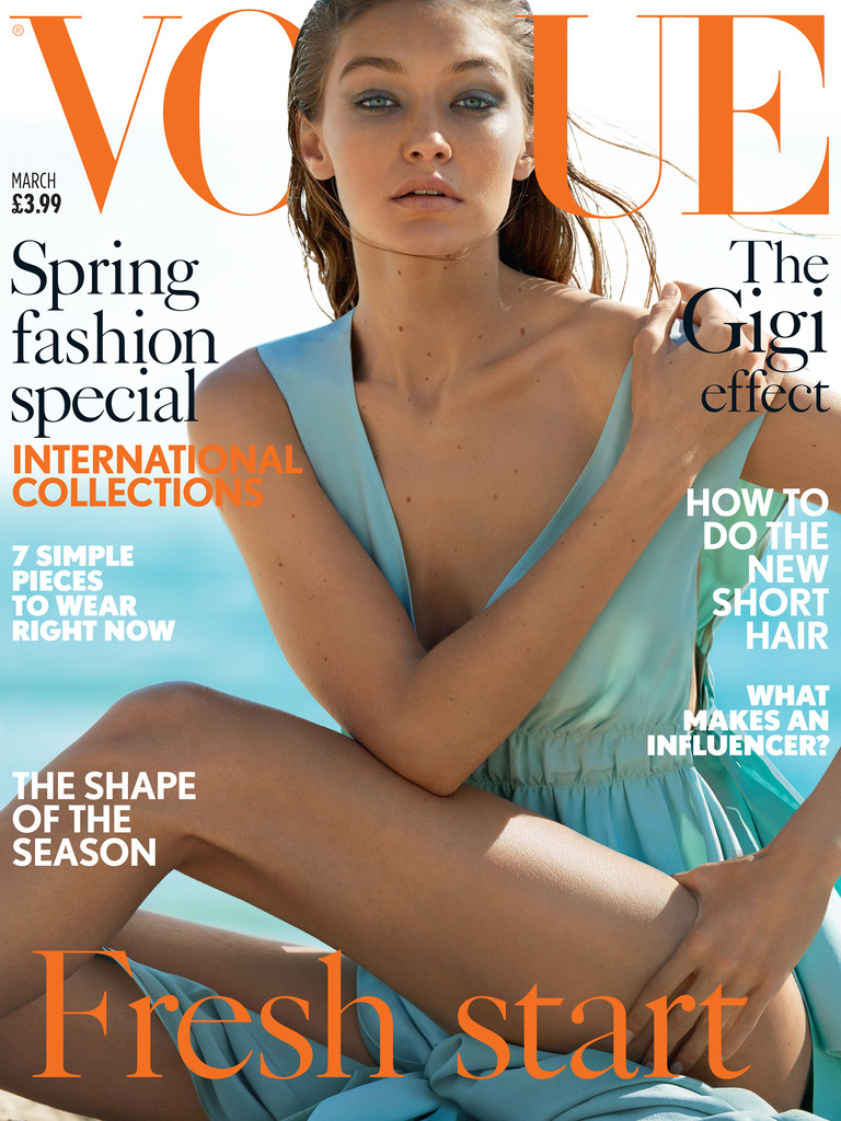 Gigi Hadid, British Vogue