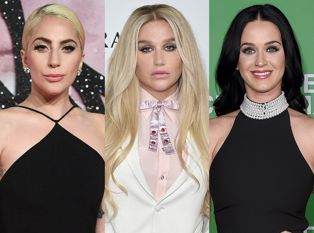 Lady Gaga, Kesha, Katy Perry