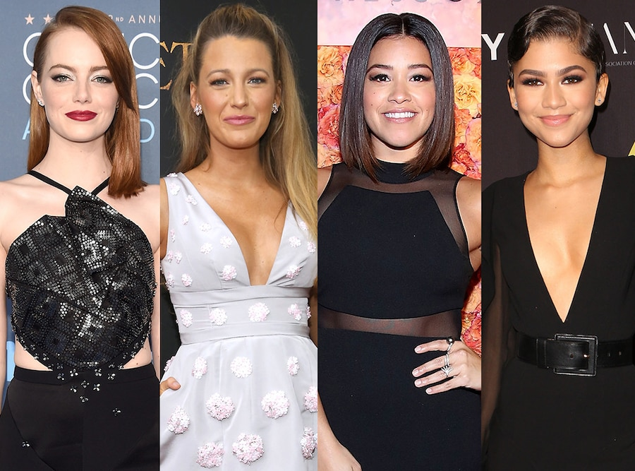 Emma Stone, Blake Lively, Gina Rodriguez, Zendaya