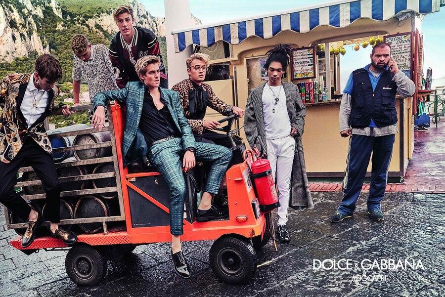 Gabriel Kane Day-Lewis, Brandon Thomas Lee, Rafferty Law, Dolce&Gabbana Spring Summer 2017 Men's Campaign