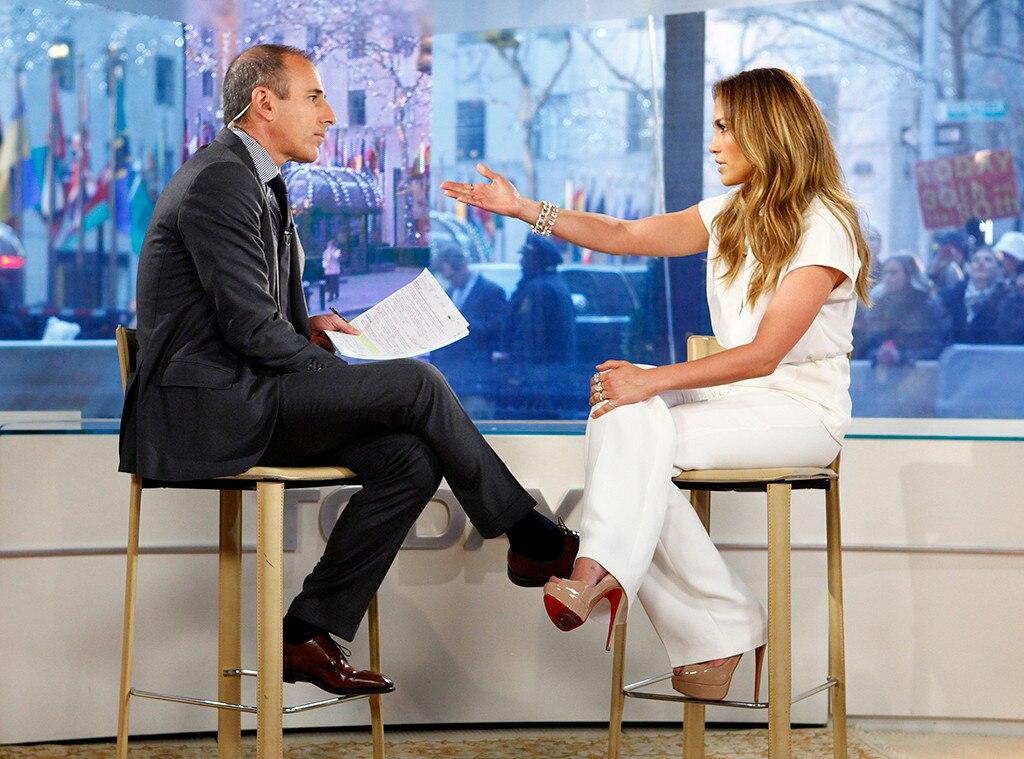 Matt Lauer, Jennifer Lopez