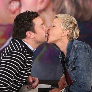 Ellen DeGeneres, Jimmy Fallon, Kiss
