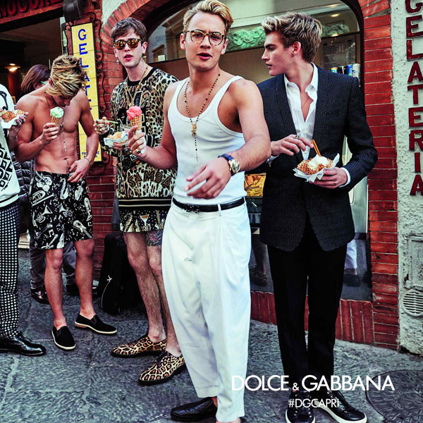 Gabriel Kane Day-Lewis, Brandon Thomas Lee, Rafferty Law, Dolce&Gabbana Spring Summer 2017 Men's Campaign