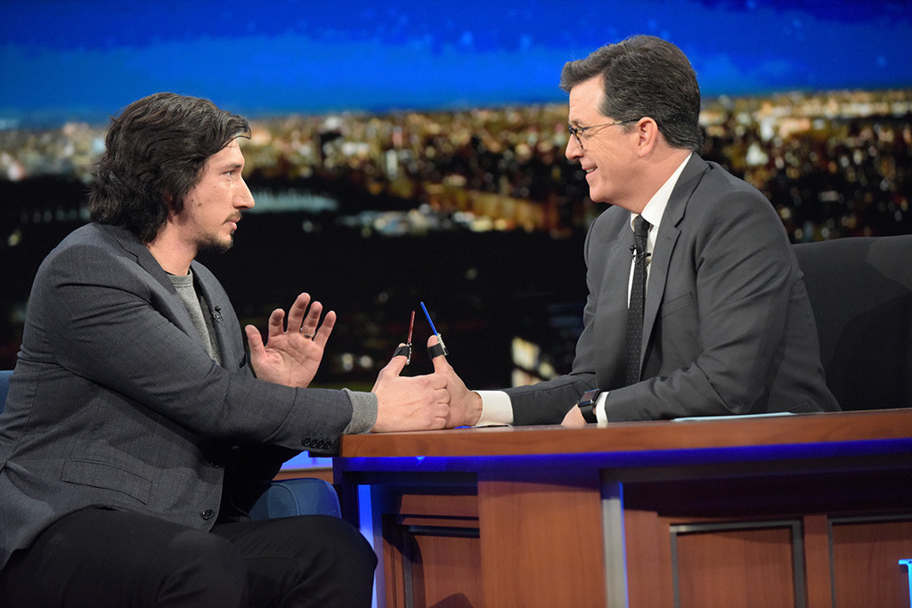 Adam Driver, Stephen Colbert, The Late Show
