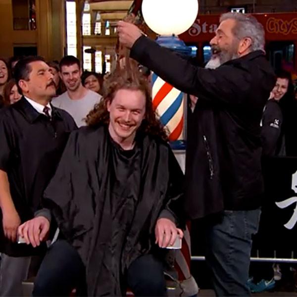 Mel Gibson, Haircut, Jimmy Kimmel Live