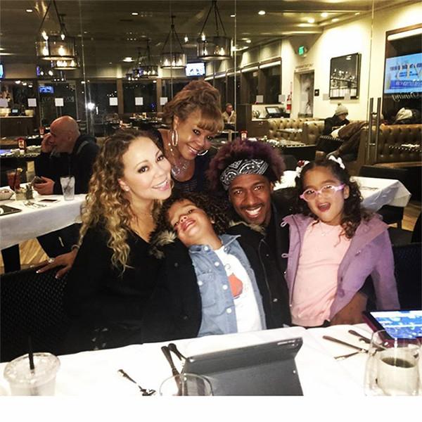 Mariah Carey, Nick Cannon, Twins Moroccan, Monroe