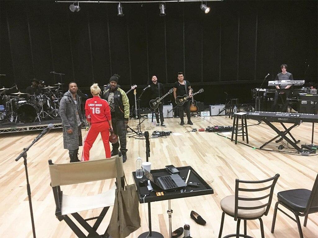 Lady Gaga, Super Bowl 2017 Halftime Show Rehearsal