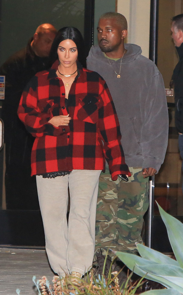 Kim Kardashian Sports Casual Look on Another Rare Night Out With Kanye West
