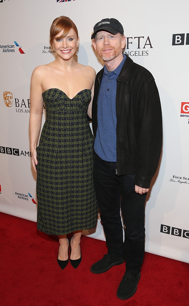 Ron Howard, Bryce Dallas Howard, BAFTA Tea Party