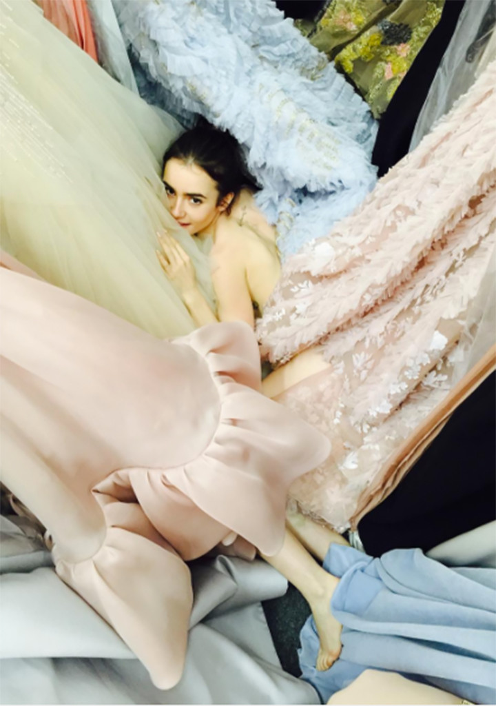 Lily Collins, Instagram