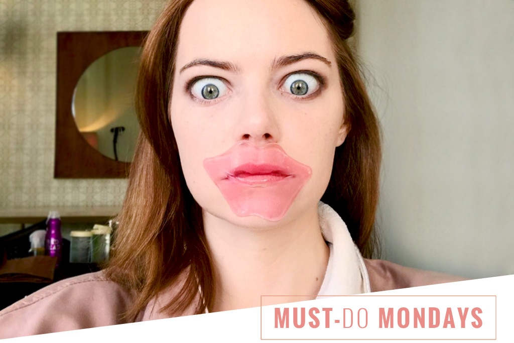Lip Masks: How to Get Emma Stone's Super-Soft Lips | E! News Emma Stone Instagram