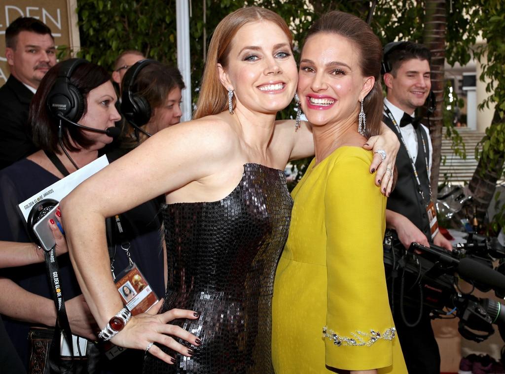 Amy Adams, Natalie Portman, 2017 Golden Globes, Candids