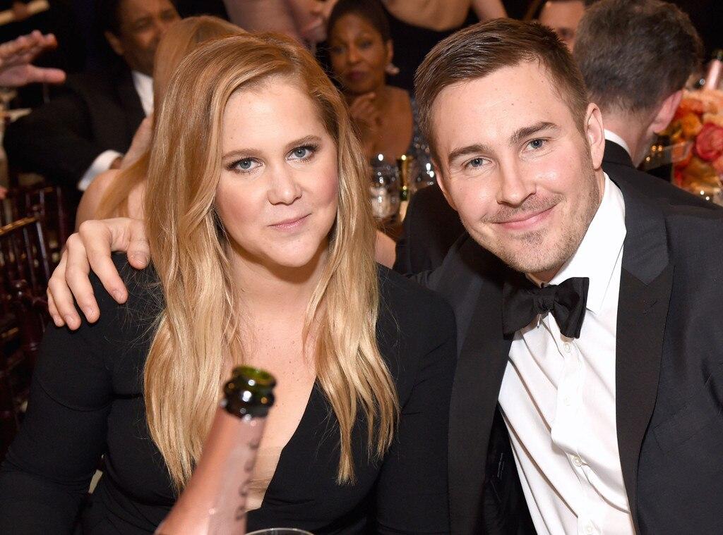 Amy Schumer, Ben Hanisch, 2017 Golden Globes, Candids