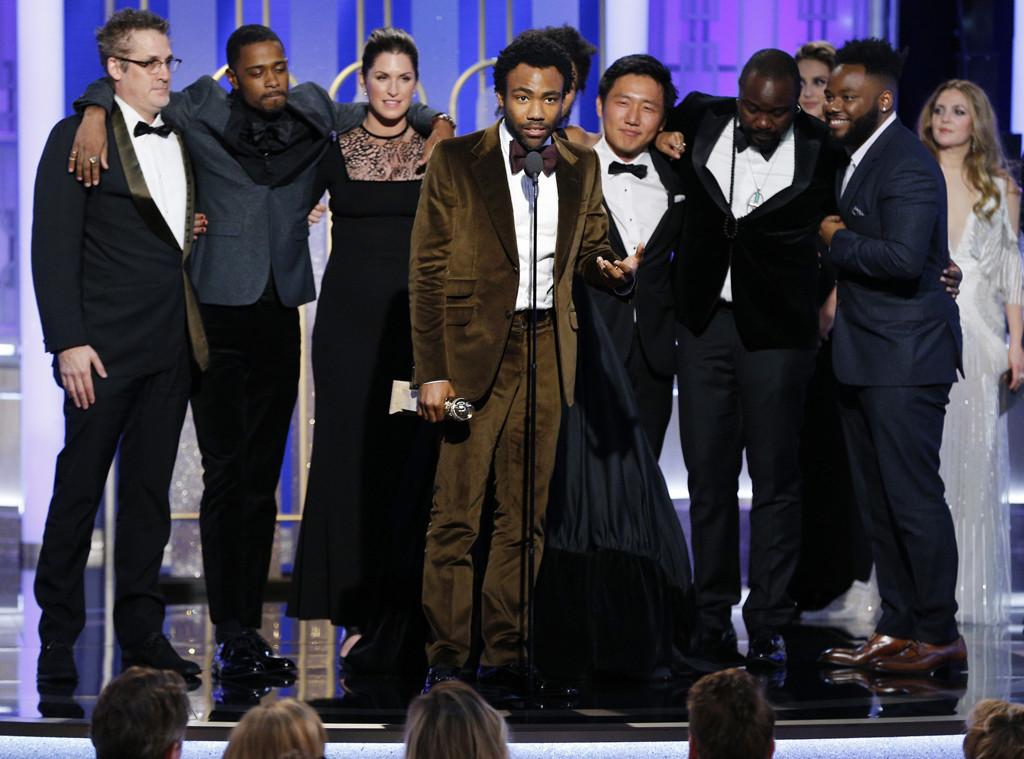 Cast of Atlanta, 2017 Golden Globes, Winners
