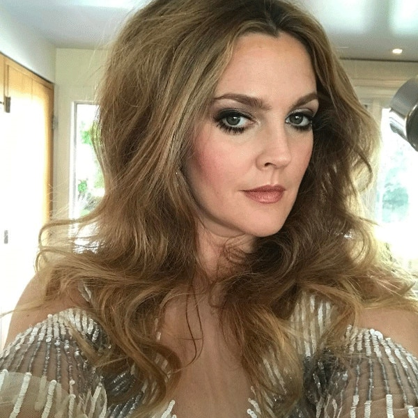 Drew Barrymore, Golden Globes 2017, Instagram
