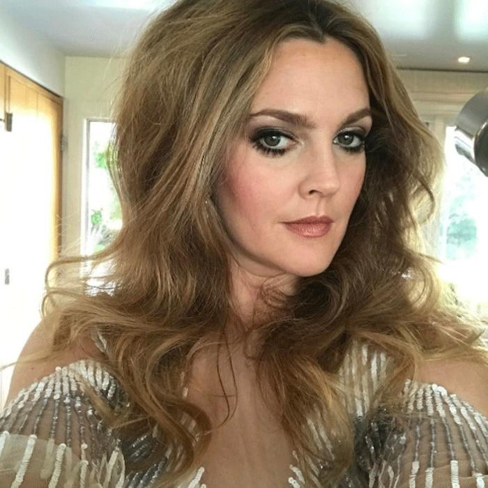 Drew Barrymore, Golden Globes 2017, Instagram