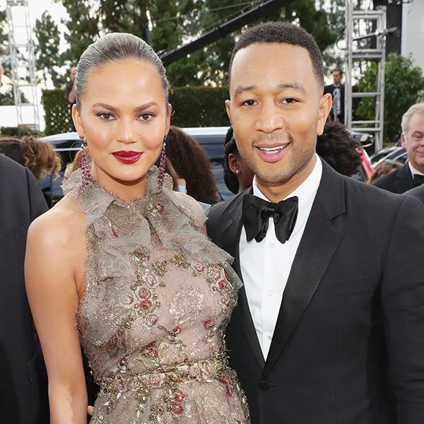 Chrissy Teigen, John Legend, 2017 Golden Globes, Couples