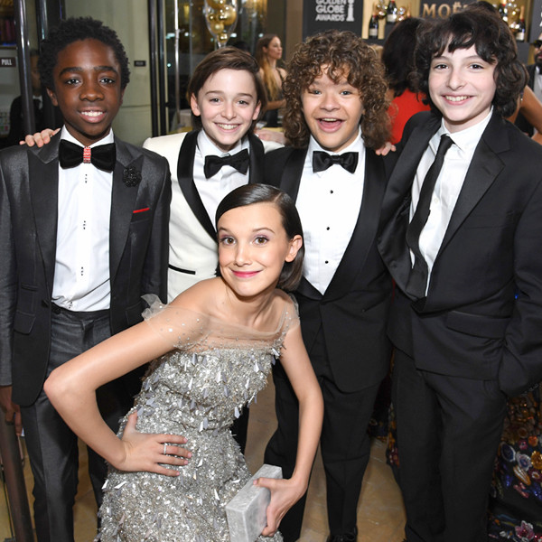 Stranger Things Kids, 2017 Golden Globes, Candids