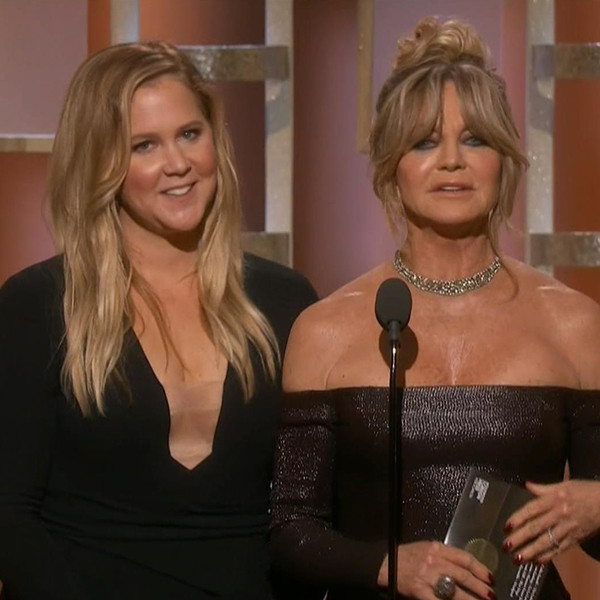 Amy Schumer, Goldie Hawn, Golden Globes 2017