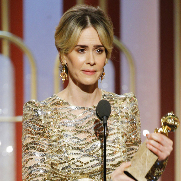 Sarah Paulson Wins Best Actress in a Limited Series at 2017 Golden Globes
