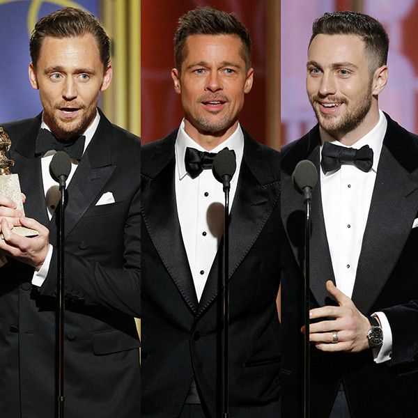 Tom Hiddleston, Brad Pitt, Aaron Taylor-Johnson
