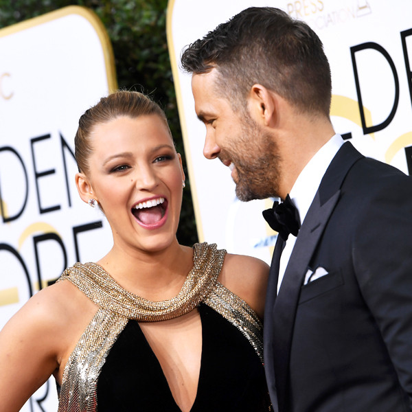 Blake Lively, Ryan Reynolds, 2017 Golden Globes, Candids
