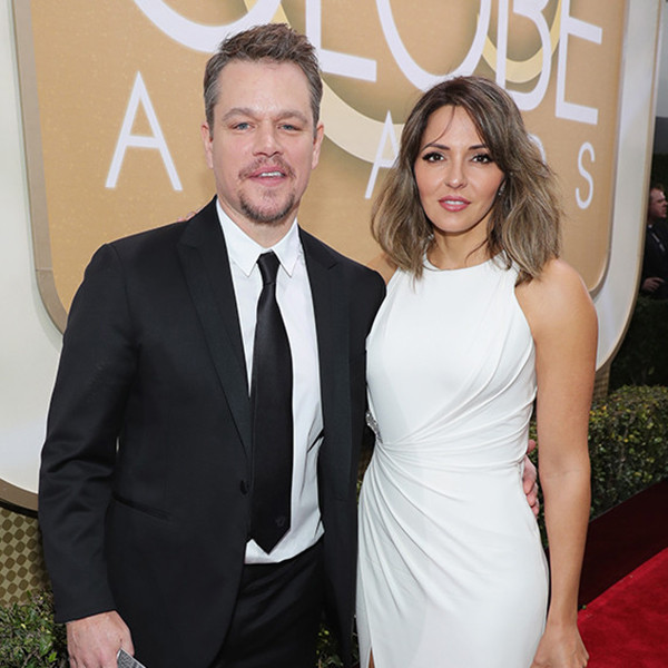 Matt Damon, Luciana Barroso, 2017 Golden Globes, Couples